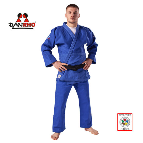 kimono judo Danrho ijf albastru
