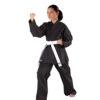 kimono karate kumite negru