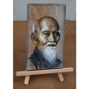 morihei-ueshiba-pictura-in-ulei-pe-lemn