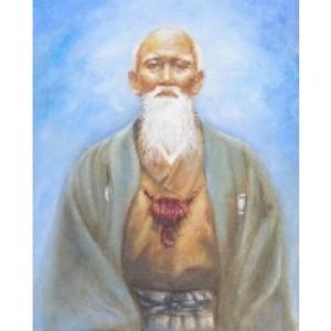 morihei-ueshiba-pictura-in-ulei-pe-suport-panza