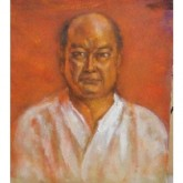 pictura-in-ulei-Oyama-Masutatsu-fondator-Karate-Kyokushinkai
