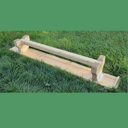 banca gimnastica 2m cu picioare lemn